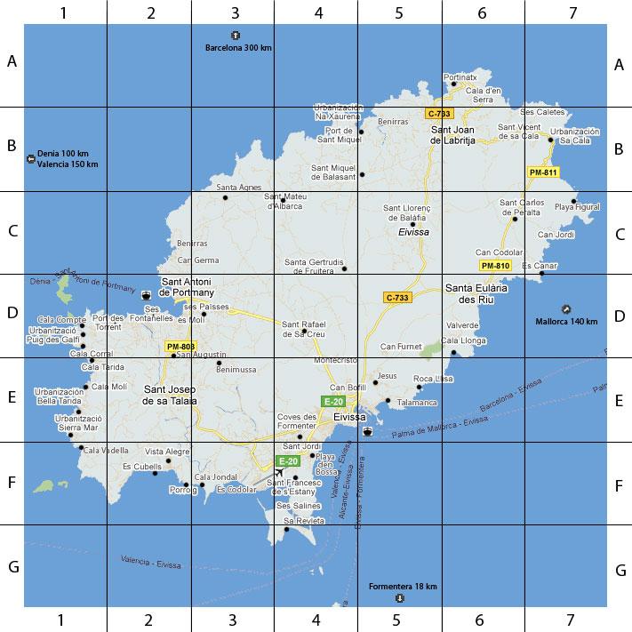 Ibiza Karte Ausdrucken.Ibiza Insel Karte By Ibiza Haus