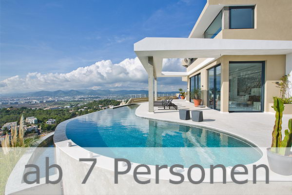 Ibiza Ferienhäuser & Fincas Vermietung ab 7 Personen